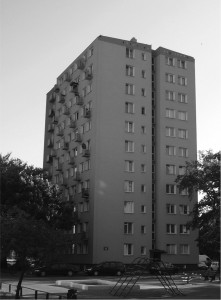 Blok przy ul.Toruńskiej 76. w którym mieszkało 86 rodzin pracowników WFP.