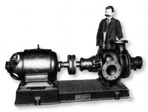 Pompa wirowa zaprojektowana przez Czesława Witoszyńskiego i wdrożona do produkcji w fabryce przy ulicy Aleksandrowskiej.