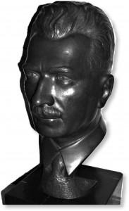 Odlana podobizna głowy inż. Stefana Twardowskiego