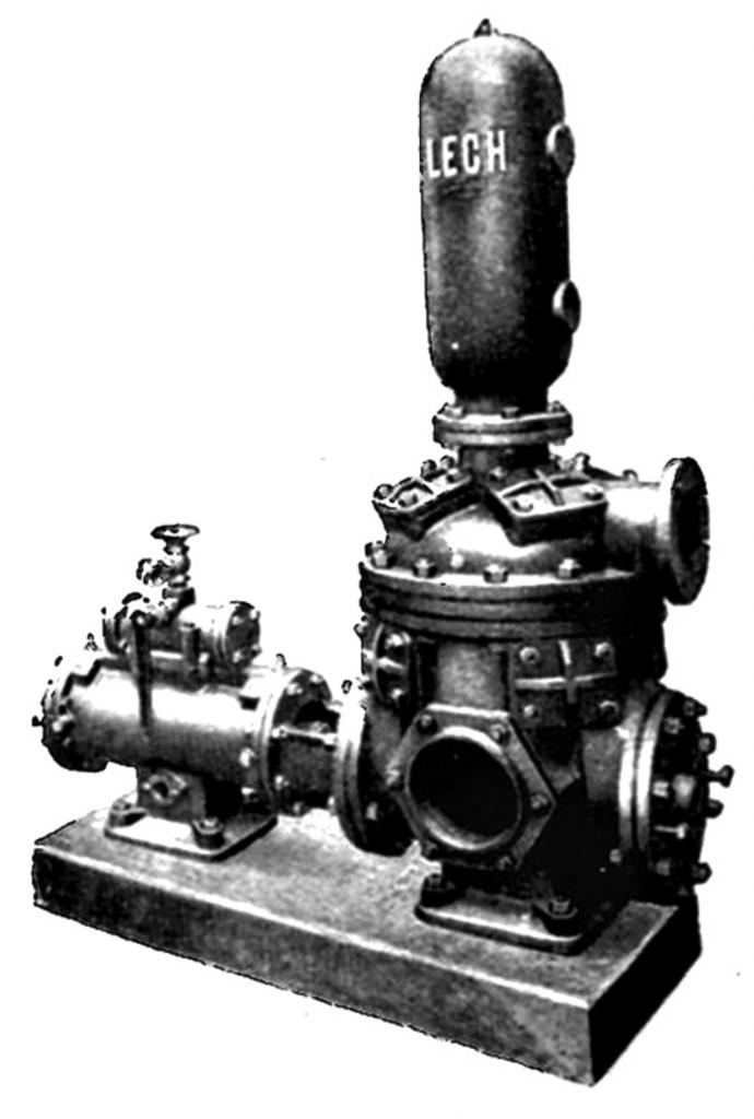 """Pompy tłokowe """"Lech"""" produkowane przy Aleksandrowskiej stosowano do zasilania kotłów parowych"""