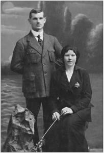 Rodzice Stanisława Monarskiego (Mondszajna): Henryk i Michalina z domu Czernuszewicz, Kijów 1916r.