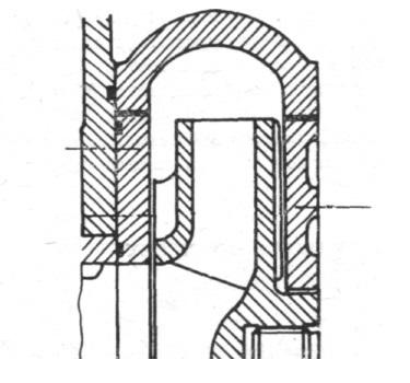 Rys. 14. Fragment układu przepływowego pompy PH.