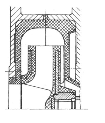 Rys. 19. Fragment układu przepływowego pompy PG-200P.