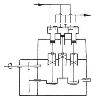 Rys. 28. Schemat konstrukcyjny pompy T-100/32.