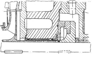 Rys. 4. Układ odciążenia osiowego w pompie OW-AM.