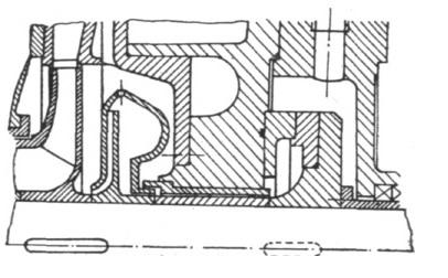 Rys. 8. Układ odciążenia osiowego z separatorem zanieczyszczeń.